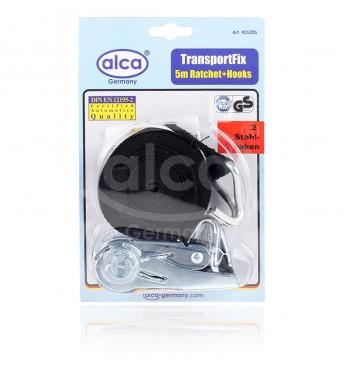 Ремень для багажа (Стяжка груза) ALCA 1шт x 5м с трещоткой и двумя крючками