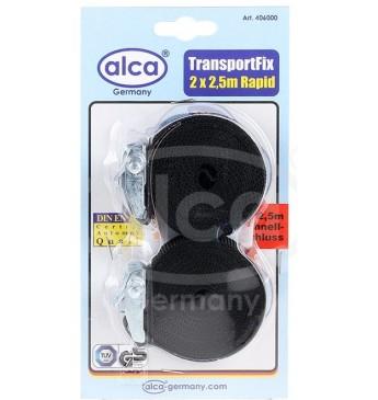 Ремень для багажа: комплект (Стяжка груза) ALCA 2шт x 2,5м без трещотки