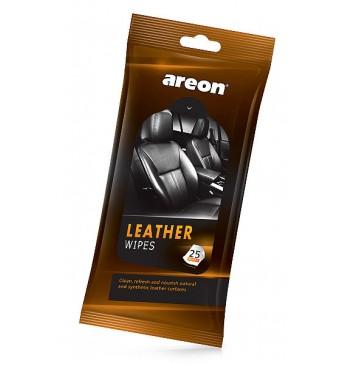 Салфетки для кожаного салона AREON WIPES - Leather, 25шт