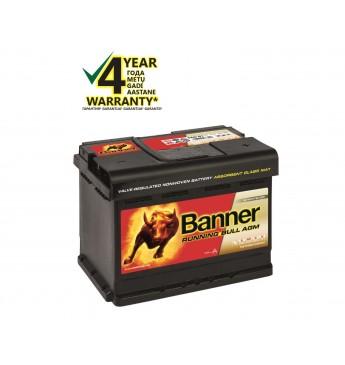 Аккумулятор Banner AGM 60Ah 600A RUNNING BULL 12V 241x175x190mm