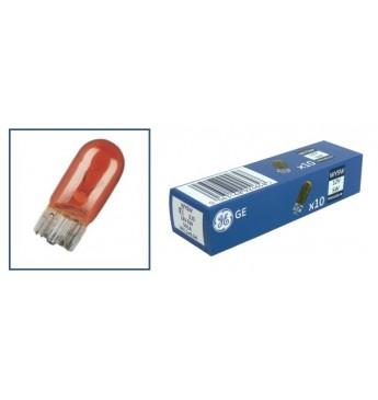 Лампа GE 12V 5W безцокольная желтая